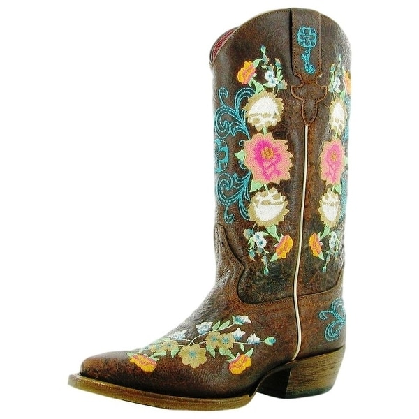 df6a1f30bf4f6 Shop Macie Bean Western Boots Girls Cowboy Floral Sweet Sixteen - Free  Shipping Today - Overstock - 15383036