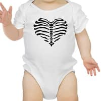 Heart Skeleton Bodysuit Baby Cute Graphic White Bodysuit Halloween