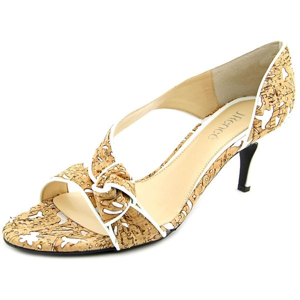 J. Renee Jaynnie Women Cork/White Sandals