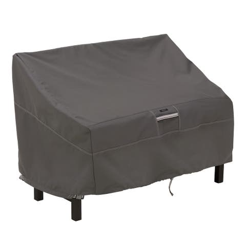 Classic Accessories Ravenna Water-Resistant 50 Inch Patio Bench Cover