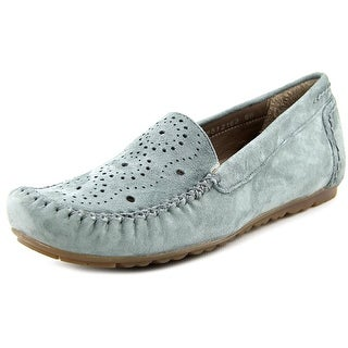 Rose Petals by Walking Cradles Elle Women W Round Toe Suede Gray Loafer