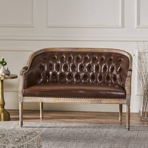 Faye Tufted Upholstered Loveseat by Christopher Knight Home