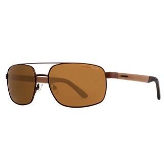 CARRERA Rectangular 8006/S Men's 1F1P/VW Brown Brown Sunglasses - 59mm-17mm-135mm
