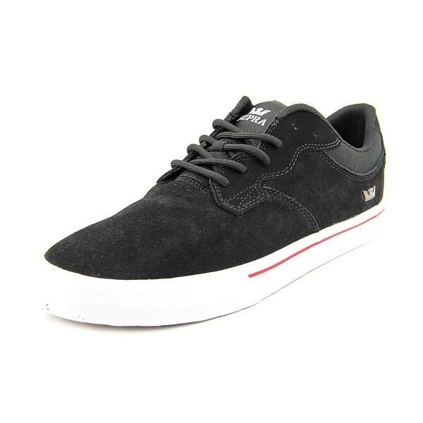 Supra Axle Men Round Toe Suede Black Skate Shoe