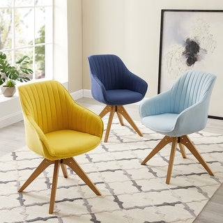 Link to Art-Leon Classical Swivel Office Accent Arm Chair with Wood Legs Similar Items in Home Office Furniture