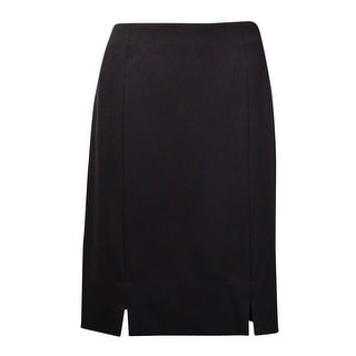 Kasper Women's Solid Slit Hem Pencil Skirt