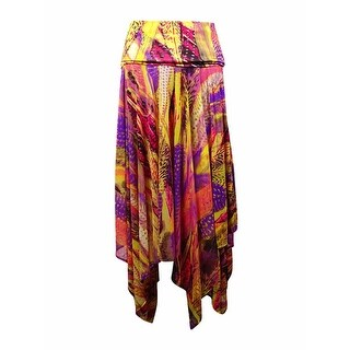 INC International Concepts Women's Convertible Printed Skirt (S, Exotic Feather) - exotic feather