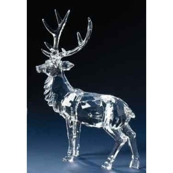 Icy Crystal Standing Reindeer Christmas Figure with Detachable Antlers 10""