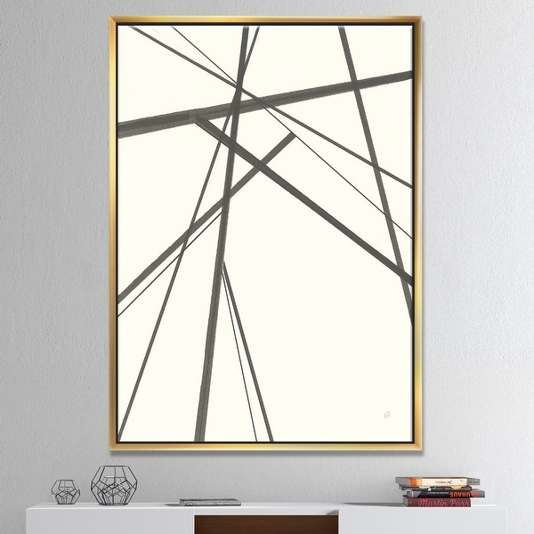 Designart 'minimalist black and white III' Transitional Framed Canvas