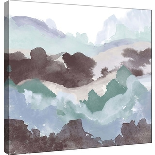 "PTM Images 9-100488  PTM Canvas Collection 12"" x 12"" - ""Layers of Winter B"" Giclee Mountains Art Print on Canvas"