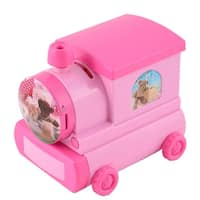 Birthday Gift Plastic Locomotive Shaped Money Box Music Box Desktop Decor Pink