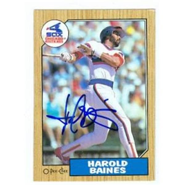 637c5941ebf Shop Harold Baines Autographed Baseball Card Chicago White Sox 1987 - Free  Shipping On Orders Over  45 - Overstock.com - 23816619