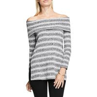 Two by Vince Camuto Womens Casual Top Ribbed Knit Striped