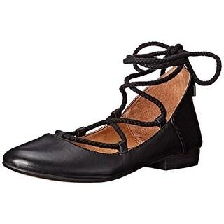 Kelsi Dagger Womens Deandrars Ballet Flats Leather Lace Up