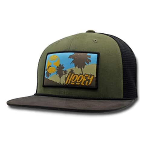 HOOey Hat Mens Trucker Vegas Snapback Mesh One Size Green Black