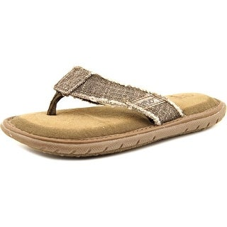 Crevo Monterey Youth Open Toe Canvas Tan Thong Sandal