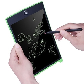 Kid's 8.5-inch Electronic Paperless LCD Drawing Pad - ECO Friendly - Ink Free - Ultra Lightweight - Great for ALL Ages - Green