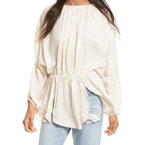 240cf7e0c8692 Shop Free People Beige Women s Size Small S Tunic Sequin Open-Back ...