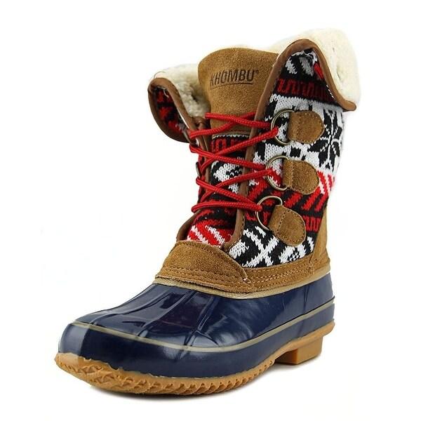 Khombu Womens jenna Fabric Closed Toe Mid-Calf Cold Weather Boots