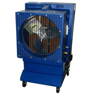 Quietaire QC18DVS 18 Inch Direct Drive Portable Evaporative Cooler - Blue