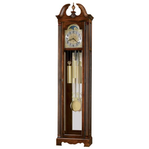 Howard Miller Warren Classic Grandfather Clock Style Standing Clock with Pendulum and Movements, Reloj de Pendulo de Piso
