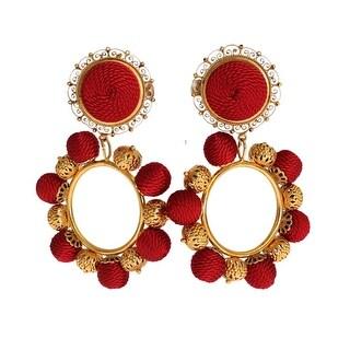 Dolce & Gabbana Red Gold Brass NATALE ClipOn Earring