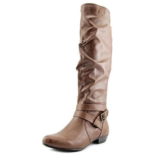 Fergalicious Lara Wide Calf Women Cognac Boots