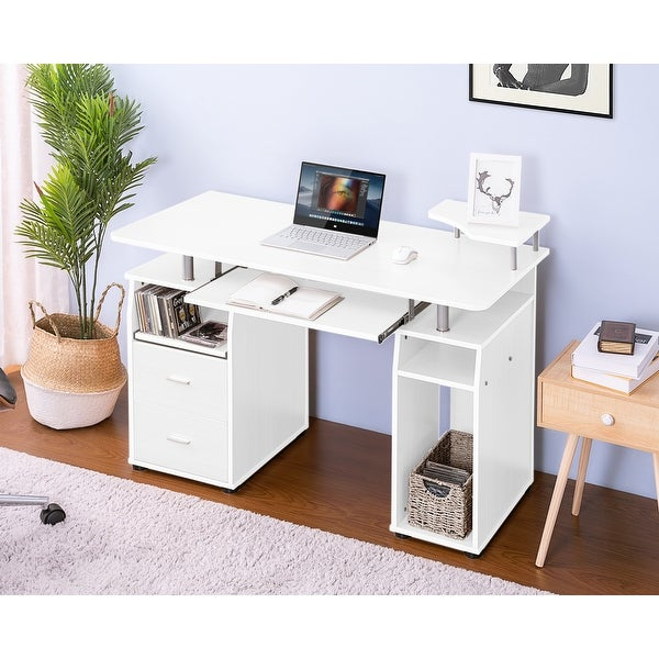 Shop Essential Home Office Computer Desk With Pull-Out