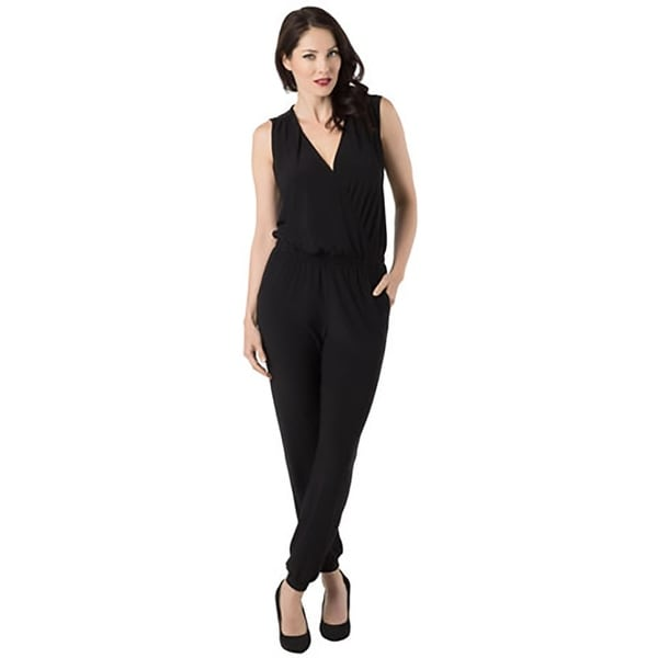 Annalee + Hope Womens Jumpsuit Matte Jersey Gathered