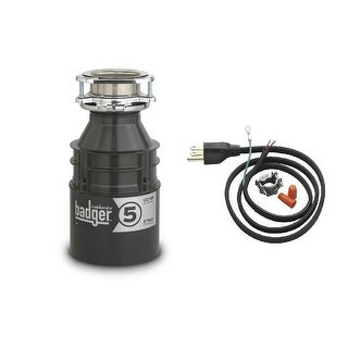 InSinkErator Badger 5 Badger 1/2 HP Garbage Disposal with Soundseal Technology (2 options available)
