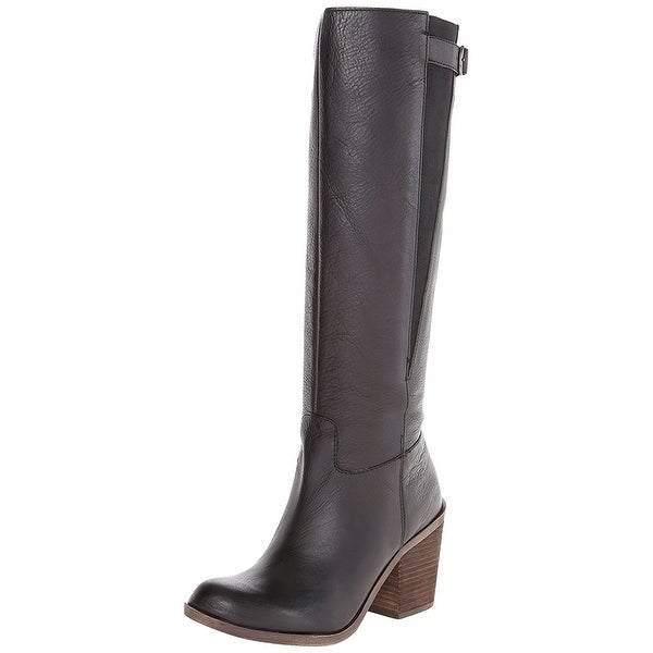 Lucky Brand Womens Orman Leather Closed Toe Mid-Calf Riding Boots