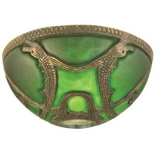 "Meyda Tiffany 22084 9.5"" Victorian Art Glass Gothic Dome Shade"