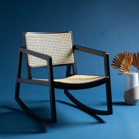 """Safavieh Couture Perth Rattan Rocking Chair - 22.8""""x34.3""""x30.5"""""""