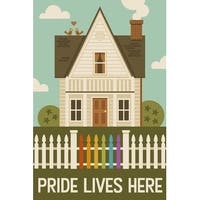 Gay Pride - Pride Lives Here - LP Artwork (Art Print - Multiple Sizes Available)