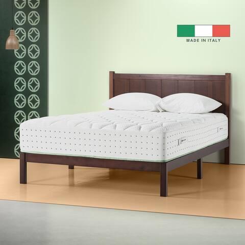 Priage by Zinus Italian Made 12 Inch Olive Oil Memory Foam Hybrid Spring Mattress