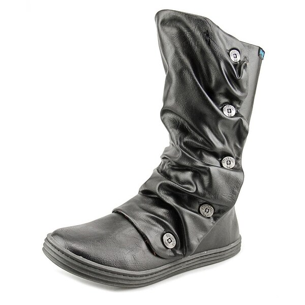 Blowfish Rammish Women Round Toe Synthetic Black Mid Calf Boot