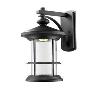 Zlite 552XL-BK-LED Outdoor LED Black Wall Light - Clear Seedy