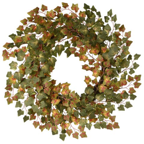 "24"" Harvest Green Ivy Wreath"
