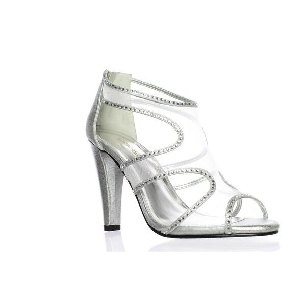 5c22a77ce0 Shop Caparros Womens Desire Silver Peep Toe Heels Size 8.5 - On Sale ...