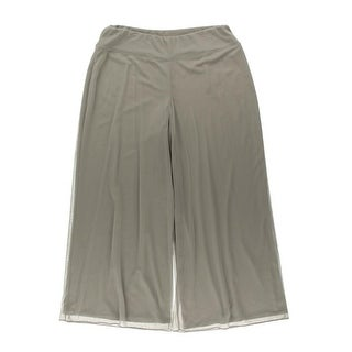MSK Women Womens Plus Mesh Pull On Wide Leg Pants - 3X