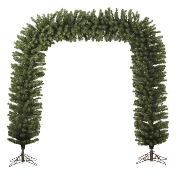 9' x 8' Huge Pre-Lit Green Pine Artificial Christmas Archway Decoration - Clear Lights