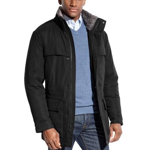 Weatherproof Black Zip Insulated Windbreaker Jacket XX-Large Faux Fur Collar