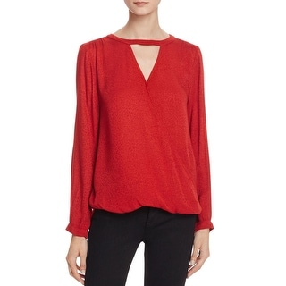 Velvet Womens Wrap Top Keyhole Surplice