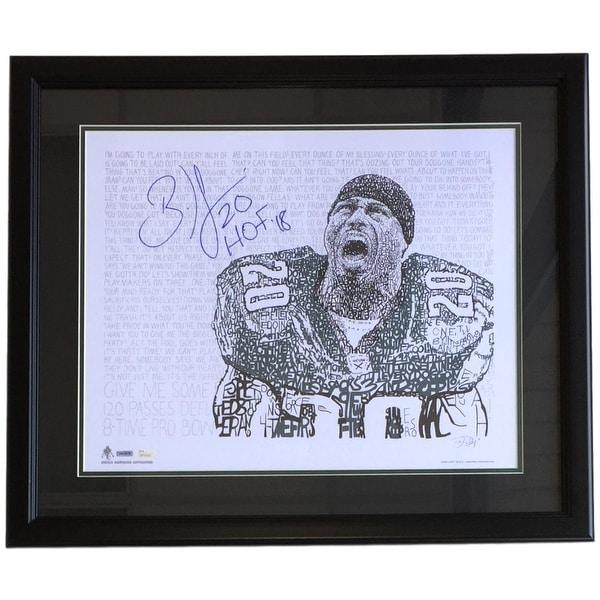 Brian Dawkins Signed Framed 16x20 Philadelphia Eagles Word Art Photo HOF 18 JSA