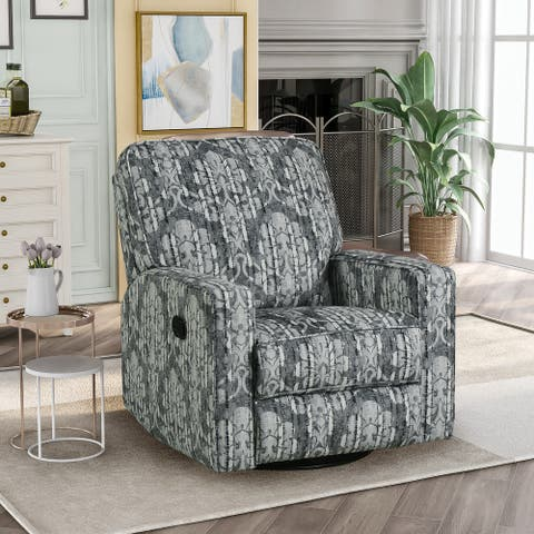 360° Swivel and Rocking Manual Recliner Chair with Padded Seat