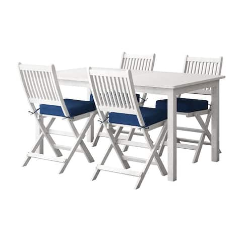 CorLiving Miramar Natural Hardwood Outdoor Dining Set, 5pc