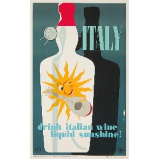 Drink Italian Wine (Martelli) Vintage Ad (Art Print - Multiple Sizes Available)