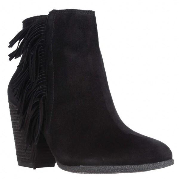 Vince Camuto Hayzee Fringe Ankle Boots, Black