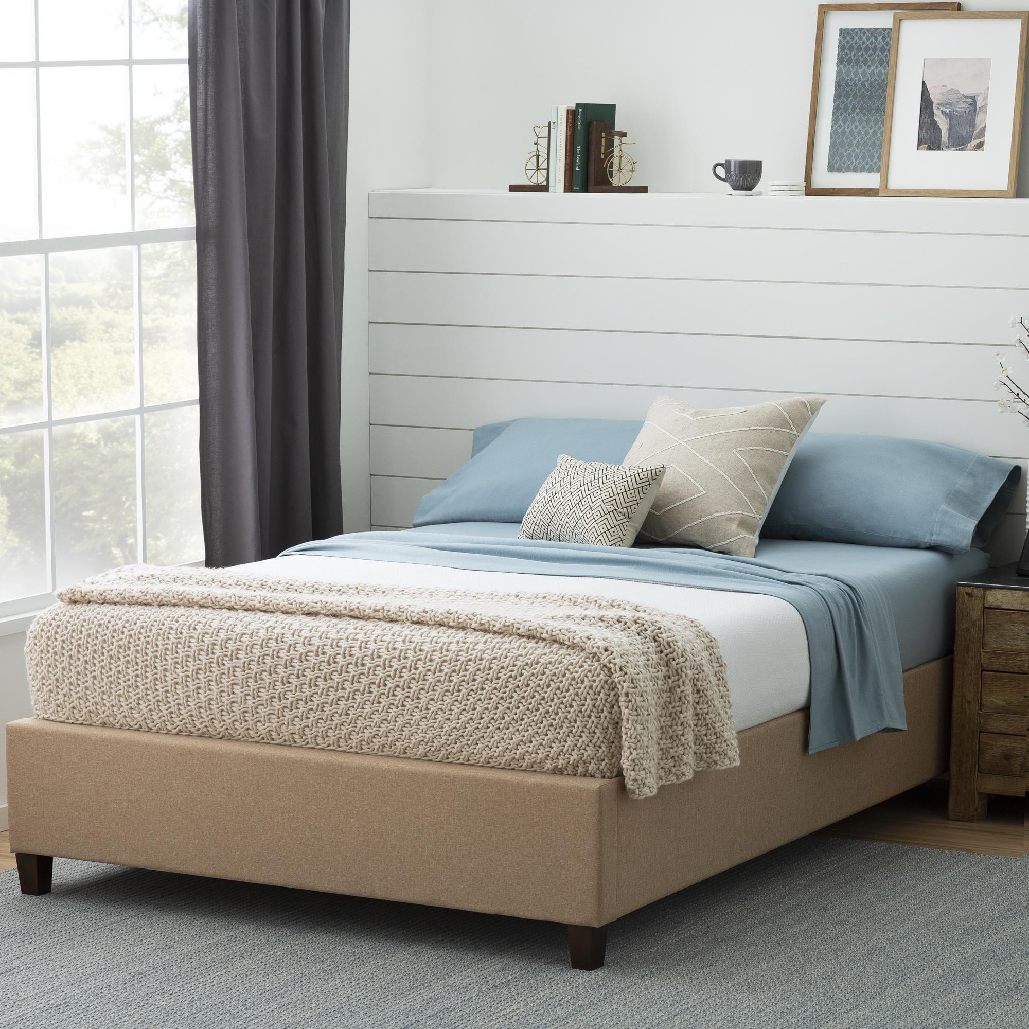 Brookside Ava Upholstered Platform Bed With Slats On Sale Overstock 29879635