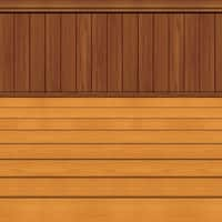 Pack of 6 Printed Floor and Wainscoting Frame Wall Backdrop 4' x 30' - brown